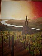 Brow Posters - Church in Vineyard Poster by Jessica Meredith