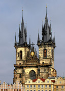 Bell Tower Framed Prints - Church of Our Lady Before Tyn - Prague CZ Framed Print by Christine Till