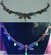 Nouveau Jewelry - Cicada Necklace by Michelle  Robison