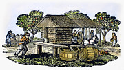 Treadmill Prints - CIDER MILL, 19th CENTURY Print by Granger