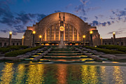 Terminal Photos - Cincinnati Museum Center at Twilight by Keith Allen