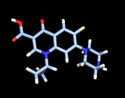 Molecule Art - Ciprofloxacin Antibiotic Molecule by Dr Tim Evans