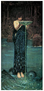 Waterhouse Painting Prints - Circe Invidiosa Print by John William Waterhouse