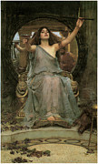 Victorian Era Framed Prints - Circe offering the Cup to Ulysses Framed Print by John William Waterhouse