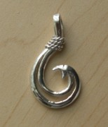 Trout Jewelry - Circle Hook pendant by Carey Chen