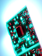 Cpu Framed Prints - Circuit Board Framed Print by Tek Image