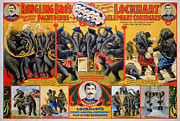 1899 Framed Prints - Circus Poster, 1899 Framed Print by Granger