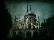Gothic Dark Church Framed Prints - Citadel Framed Print by Andrew Paranavitana