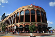 Baseball Prints Prints - Citi Field - New York Mets Print by Frank Romeo