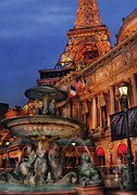 Nevada Framed Prints - City - Vegas - Paris - Academie Nationale - Panorama Framed Print by Mike Savad