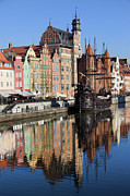 Travel Sightseeing Prints - City of Gdansk Print by Artur Bogacki