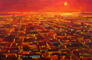Night Scenes Painting Originals - City of Sound by Aaron Memmott