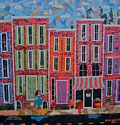 Philadelphia Mixed Media Acrylic Prints - City streets Acrylic Print by Blair Barbour