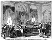 Senate Prints - Civil War: Paroles, 1865 Print by Granger