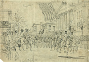 War Drawing Prints - Civil War: Savannah, 1864 Print by Granger