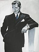 Gable Framed Prints - Clark Gable Framed Print by Eric Dee