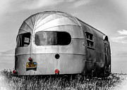 Shingle Beach Prints - Classic Airstream caravan Print by Ian Hufton