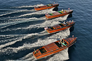 Runabout Prints - Classic Chris Craft Runabouts Print by Steven Lapkin