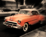 Orange Car Art - Classic Ride by Perry Webster