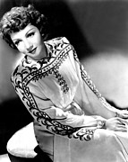 Colbw Framed Prints - Claudette Colbert, Portrait, 1940s Framed Print by Everett