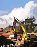 Bulldozers Framed Prints - Claw and Loader Framed Print by Brad Burns