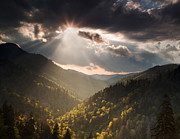 Great Smoky Mountains Posters - Clearing Storm Poster by Andrew Soundarajan