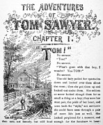 Sawyer Prints - Clemens: Tom Sawyer Print by Granger