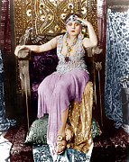 Jeweled Dress Framed Prints - Cleopatra, Theda Bara, 1917 Framed Print by Everett