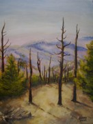 East Tennessee Paintings - Clingmans Dome in East Tennessee by Joseph Baker