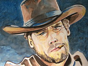 Clint Eastwood Art Paintings - Clint Eastwood by Ken Huber