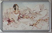 Oriental Ceramics - Cloisonne Folk Art Painting by Yingchen