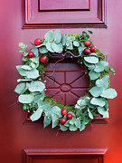 Banquet Photos - Close Up Of Christmas Wreath On Door by Carlsson, Peter
