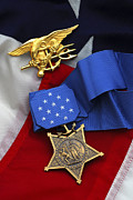 Military Medal Photo Framed Prints - Close-up Of The Medal Of Honor Award Framed Print by Stocktrek Images