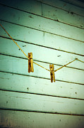 Farm Framed Prints Photos - Clothes Pins by Larysa Luciw