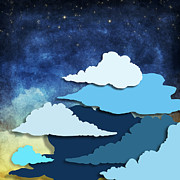 Write Prints - Cloud And Sky At Night Print by Setsiri Silapasuwanchai