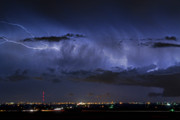 Lighning Prints - Cloud to Cloud Lightning Boulder County Colorado Print by James Bo Insogna