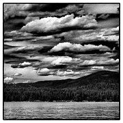 Mountains And Lake Posters - Clouds Over Elkins Resort Poster by David Patterson