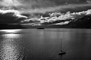 Bad Weather Prints - clouds over the Lake Maggiore Print by Joana Kruse