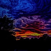 Impressionism Art - Cloudy Night by Austin Engel