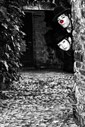 Horror Photo Prints - Clown Couple Print by Joana Kruse
