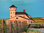 Coast Guard Station  At Race Point Print by Linda Pulvermacher