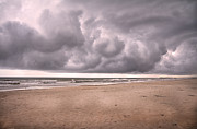 Cumulus Nimbus Posters - Coastal Storm Poster by Betsy A Cutler East Coast Barrier Islands