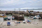 Building Feature Photo Prints - Coastal Town Harbour With Boats Print by Mikhail Lavrenov