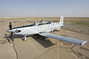 Iraq Prints - Cob Speicher, Tikrit, Iraq - A T-6 Print by Terry Moore