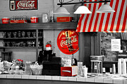 Old Diner Photos - Coca Cola by Todd Hostetter