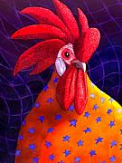 Rooster Posters - Cock A Doodle Dude Poster by Catherine G McElroy