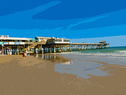 Emporium Photos - Cocoa Beach Pier Florida by Allan  Hughes