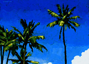 Islands Paintings - Coconut Palms 5 by Douglas Simonson