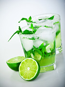 Sour Art - Cold mojito drink by Anna Omelchenko