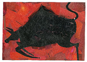Bull Tapestries - Textiles - Collage by Samruddhi Kadolkar